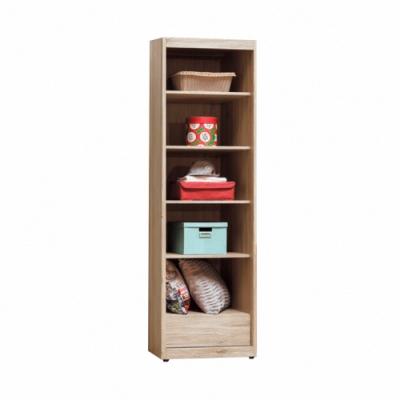 Bernice-威力橡木2尺開放置物櫃- 60x57x195cm
