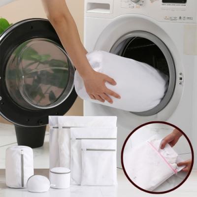 EZlife加厚防纏繞洗衣袋7入組(贈隙縫刷7支組)