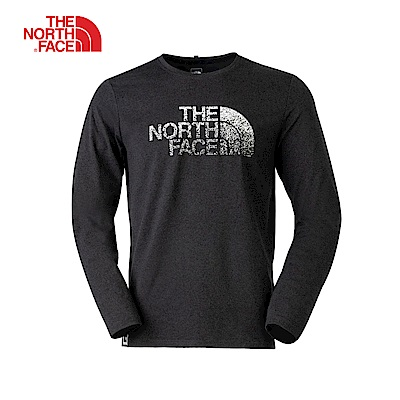 The North Face北面男款深灰色長袖上衣|3L6VDYZ