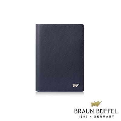 BRAUN BUFFEL -HOMME-M系列3卡護照夾 - 深藍