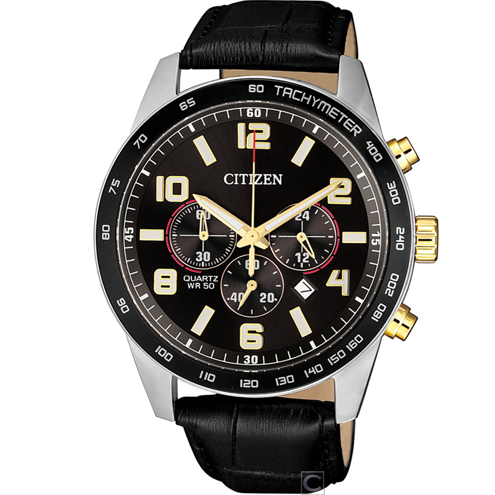 CITIZEN 極限特工計時腕錶(AN8166-05E)黑/44mm