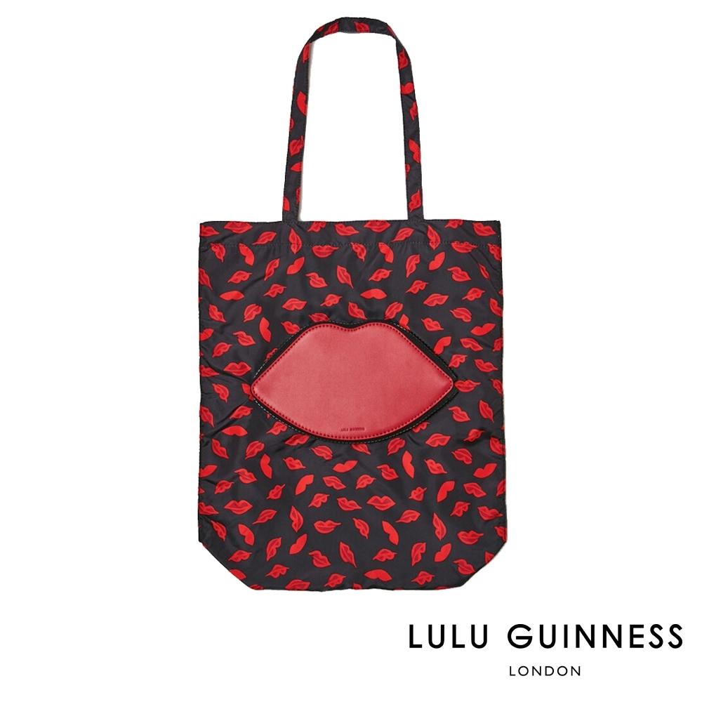 LULU GUINNESS HANDPAINTED LIPS 收納式購物袋