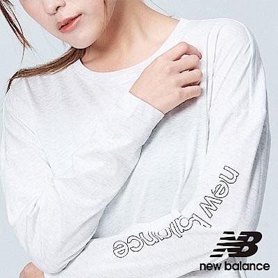 New Balance DRY花紗長袖上衣 AWT83101SAH 女性 米白