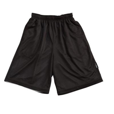 【V-TEAM】雙面穿籃球短褲-黑