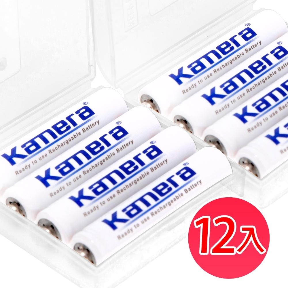 Kamera 4號 低自放鎳氫充電電池 AAA KA-4LSD (12入)