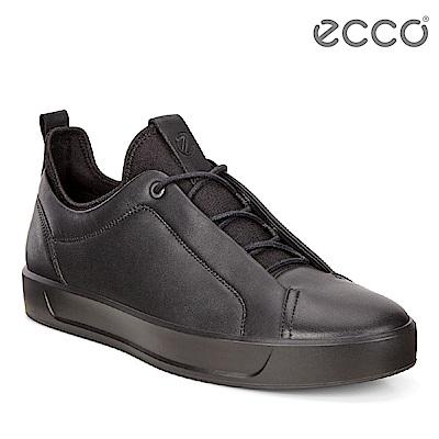 ECCO SOFT 8 MEN S 潮流舒適感包覆運動休閒鞋 男-黑