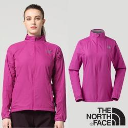 The North Face 女新款 防風防潑透氣耐磨外套_紫色 N