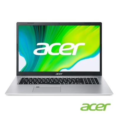 Acer A517-52-57N5 17吋筆電(i5-1135G7/4G/256G SSD/Aspire 5/銀)