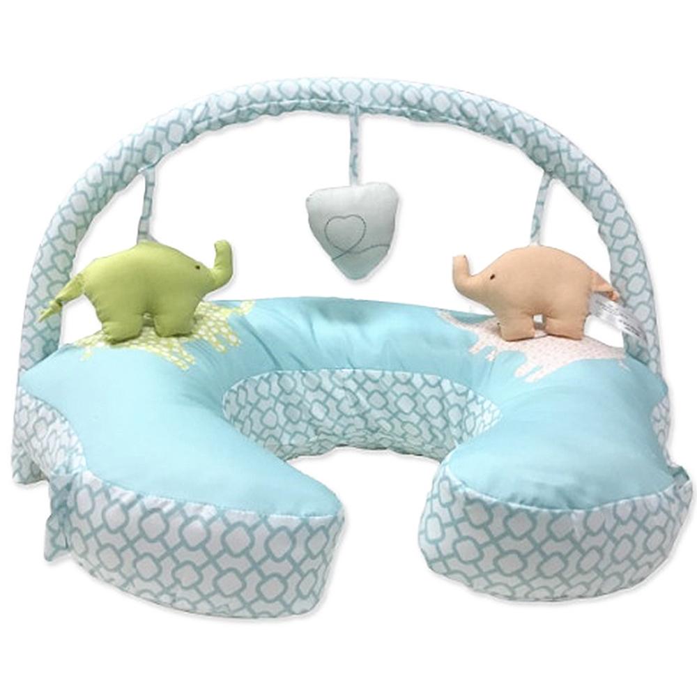美國Comfort&Harmony Mombo哺乳枕(含玩具架)-(共4款可選)