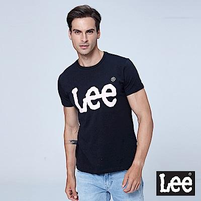 Lee 金屬感LOGO短袖圓領TEE-黑色
