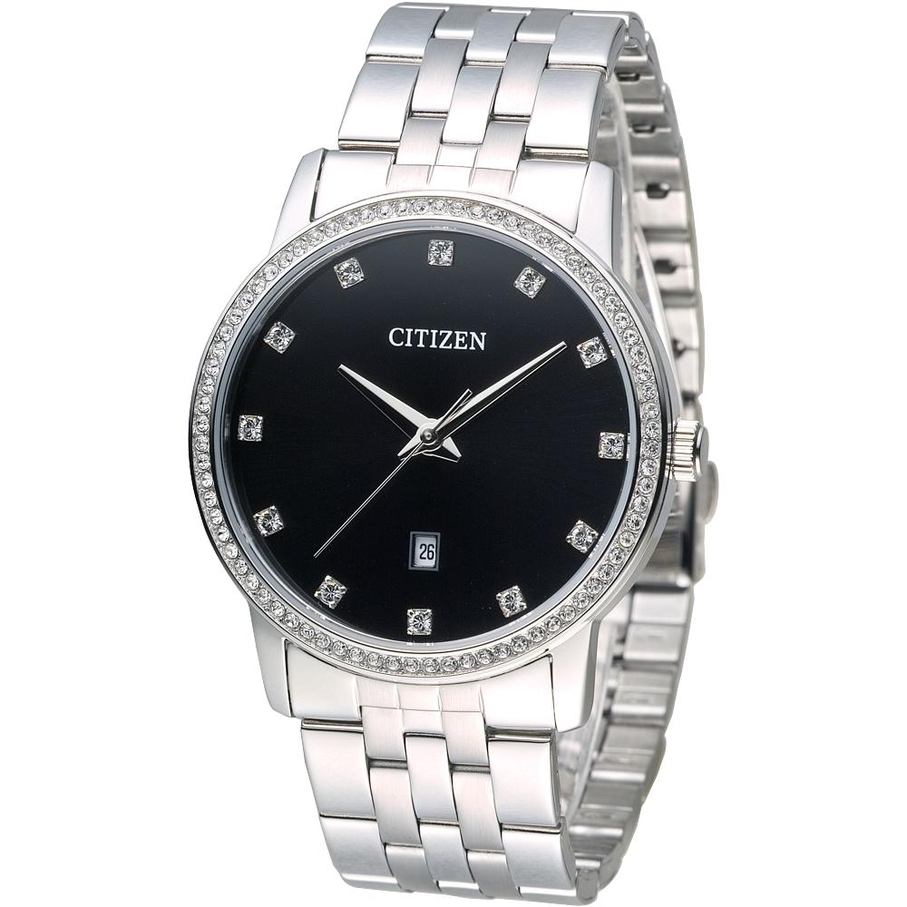 CITIZEN星辰手錶 閃耀巨星時尚男錶-黑(BI5030-51E)/40mm 保固二年