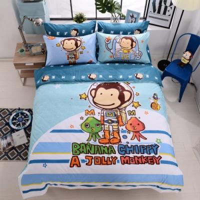 (限時下殺)BANANA MONKEY法藍紗被套床包組 單/雙/大均價