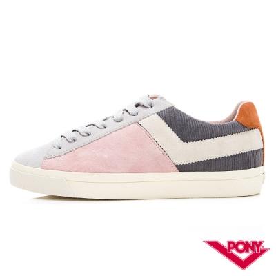 【PONY】Top Star系列獨特色彩拼接百搭休閒鞋 板鞋 滑板鞋 灰粉