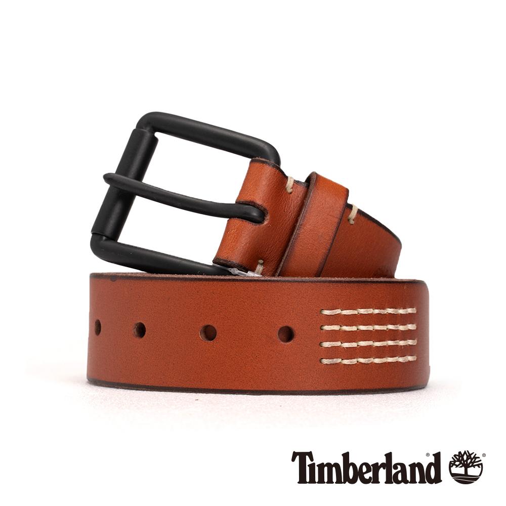 Timberland 中性中咖啡色38mm皮帶|A1DQH