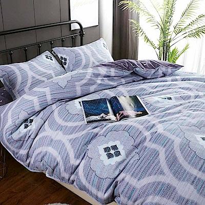 夢工場 對映甜蜜60支紗長絨棉床包兩用被組-雙人