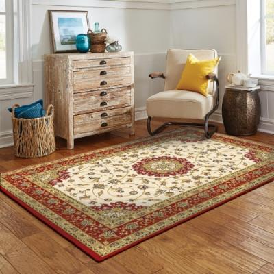 范登伯格 - 布里斯托 進口仿羊毛地毯 - 紛花(紅) (100 x 150cm)
