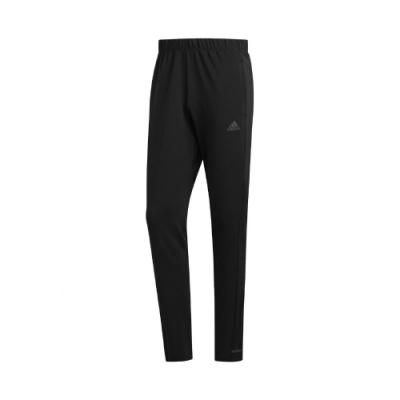 adidas 長褲 Own the Run Astro 男款 愛迪達 休閒 口袋 基本款 穿搭 黑 白 FL6962