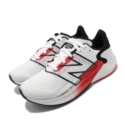 New Balance 慢跑鞋 Fuelcell Propel 寬楦 女鞋 紐巴倫 輕量 透氣 舒適 避震 路跑 白 紅 WFCPRWR2D