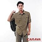 CARAVA《男Supplex原紗排汗襯衫》(橄欖綠)