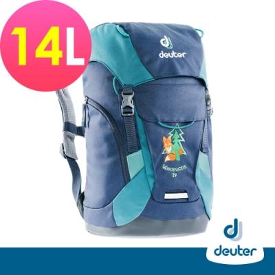 【德國DEUTER】Waldfuchs 14L兒童背包/書包/旅遊包3610117深藍湖綠