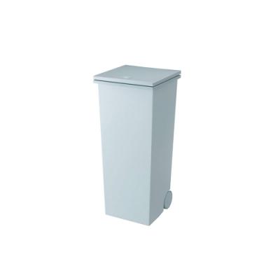 日本岩谷Iwatani 方形可分類手壓彈蓋式垃圾桶(附輪)-24L