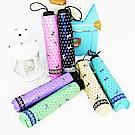 【雙龍牌】水玉蝴蝶結黑膠三折傘晴雨傘/降溫防曬抗UV防風陽傘 B6153P