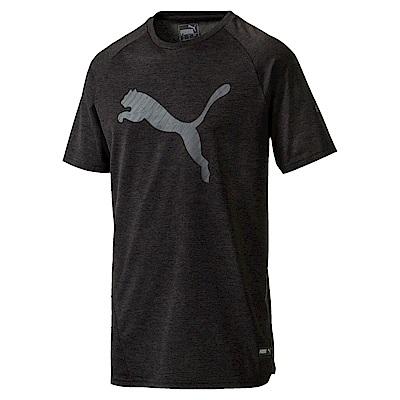 PUMA-男性訓練系列A.C.E.大跳豹短袖T恤-黑色(麻花)-歐規
