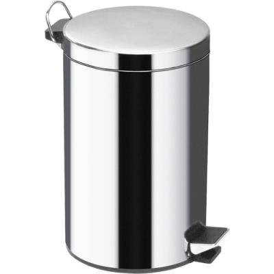 《Premier》腳踏式垃圾桶(亮銀5L)