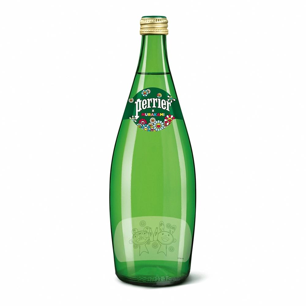 法國沛綠雅Perrier 氣泡天然礦泉水村上隆經典版(玻璃) (750mlx12入)
