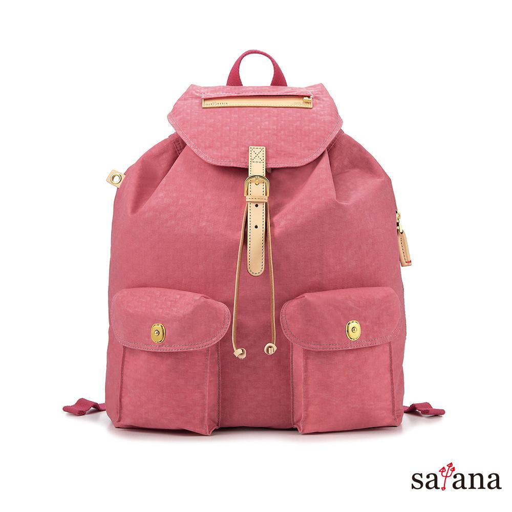 satana - 休閒束口後背包 - 歡喜玫瑰