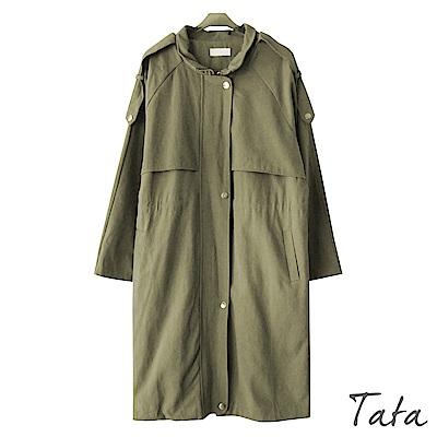 抽腰拉鏈風衣外套 共二色 TATA