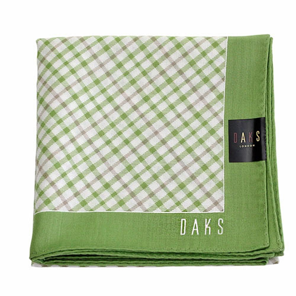 DAKS  經典斜格 大款帕領巾-草綠色