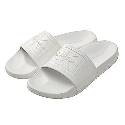 Calvin Klein Jeans LOGO 休閒拖鞋*白色