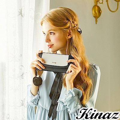 KINAZ 古典肖像ㄇ字型長夾-黛安娜系列-快