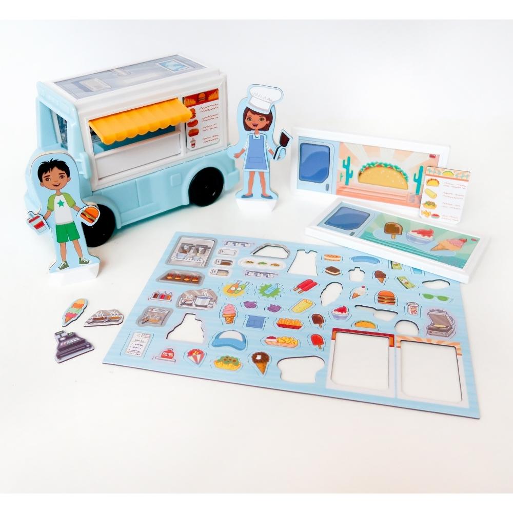 【美國瑪莉莎 Melissa & Doug 】磁力建構娃娃屋 - 點心餐車
