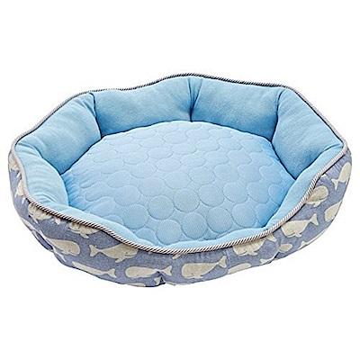 日本MARUKAN 犬貓涼感舒適睡床MK-DP-231(藍色)M號
