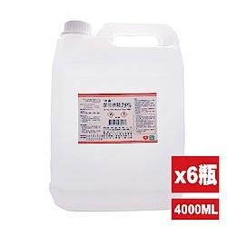 唐鑫 潔用酒精75% 6瓶組(4000ml/瓶)