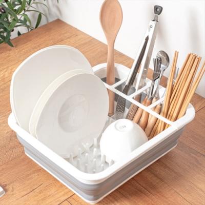 可折疊碗筷瀝水置物架 瀝水架 收納架 碗架 餐具收納
