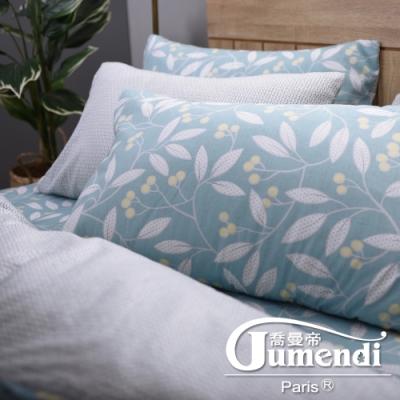 Jumendi喬曼帝 200織精梳棉-特大全鋪棉床包組-綠野仙蹤