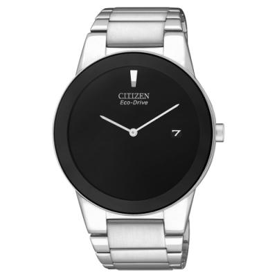 CITIZEN星辰  極簡時尚光動能石英腕錶-AU1060-51E