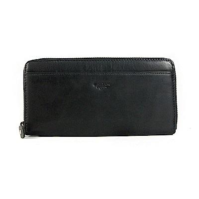 CALTAN-女長夾 拉鍊長夾 輕薄皮夾 信用卡夾 零錢袋 -2009ht-bk