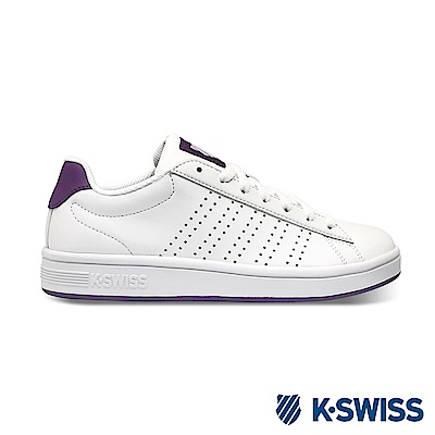 K-SWISS Court Casper S休閒運動鞋-女-白/紫