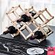 JIAGO 十瓶裝簡易折疊式紅酒架 product thumbnail 1