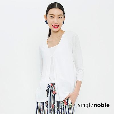 獨身貴族 優雅簡約雪紡拼接針織罩衫(2色)