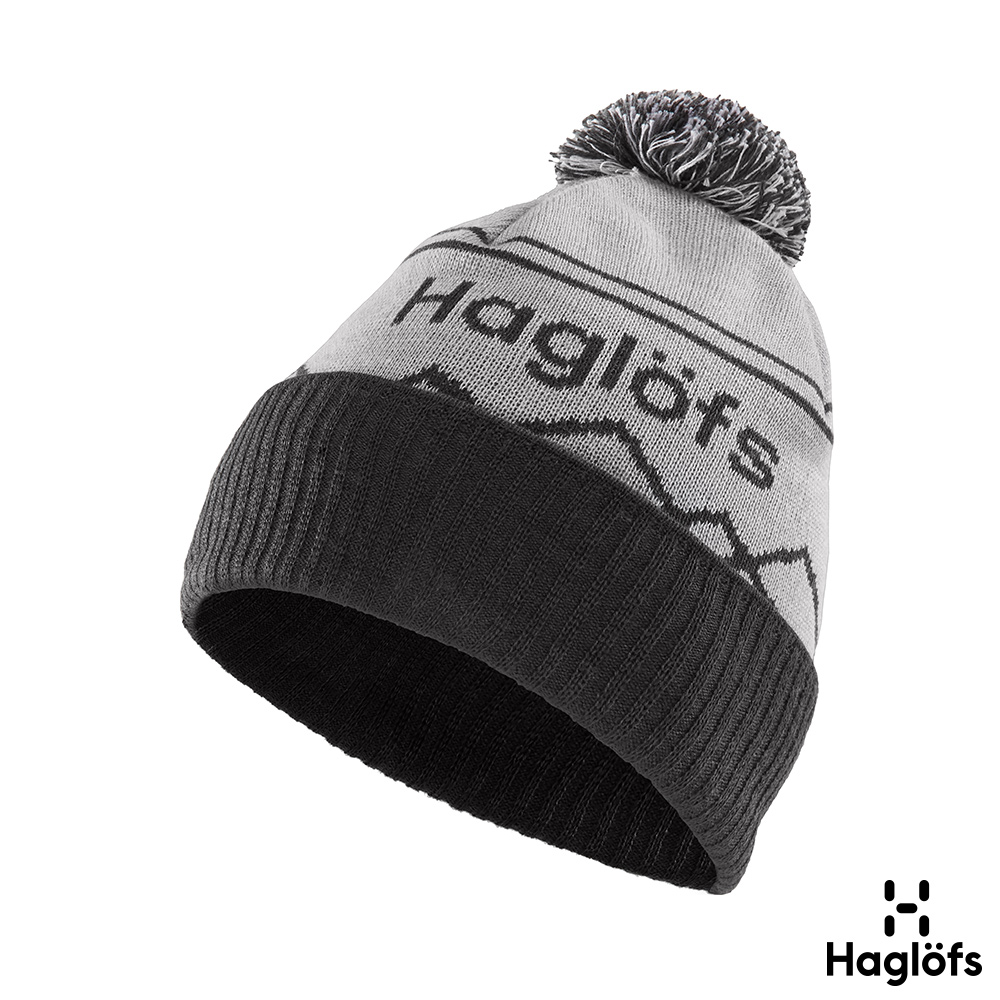 六折↘Haglofs Stipe羊毛保暖毛球帽 石灰/石板灰