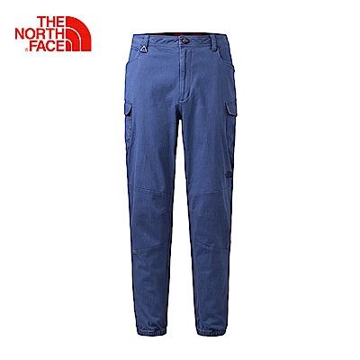 The North Face北面男款藍色舒適束腳休閒褲