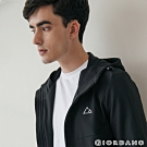 GIORDANO 男裝3M排汗抗污連帽外套 - 09 標誌黑