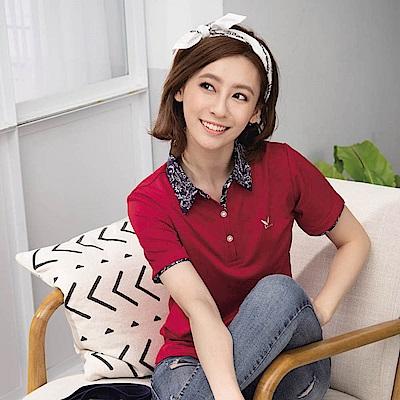 LEIDOOE青花瓷休閒女短polol衫16831