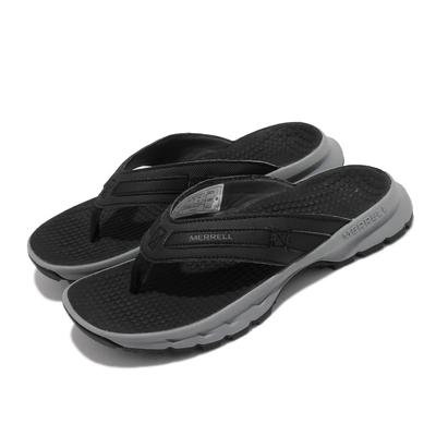 Merrell 拖鞋 Cedrus Flip 3 休閒 女鞋 緩衝 舒適 內嵌式避震墊片 穩定 耐磨 黑 灰 ML036392