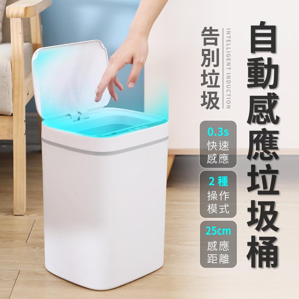 [限時下殺][買一送一] IDEA快速自動感應操作垃圾桶
